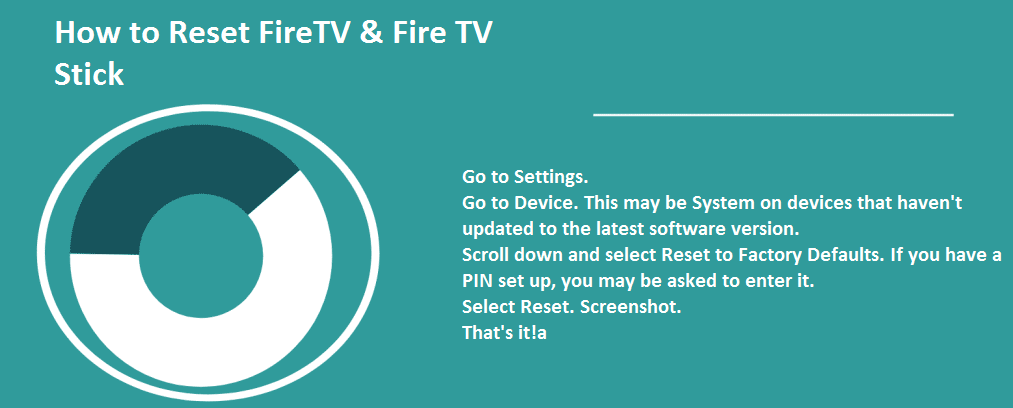 How to Reset FireTV