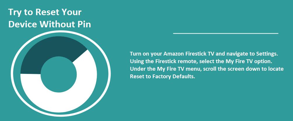reset fire stick pin
