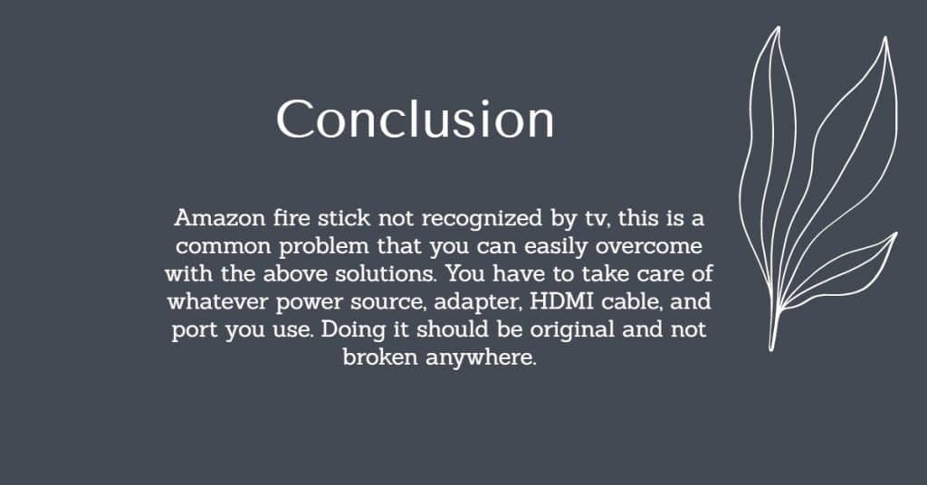 Fire Stick Not Recognized By TV