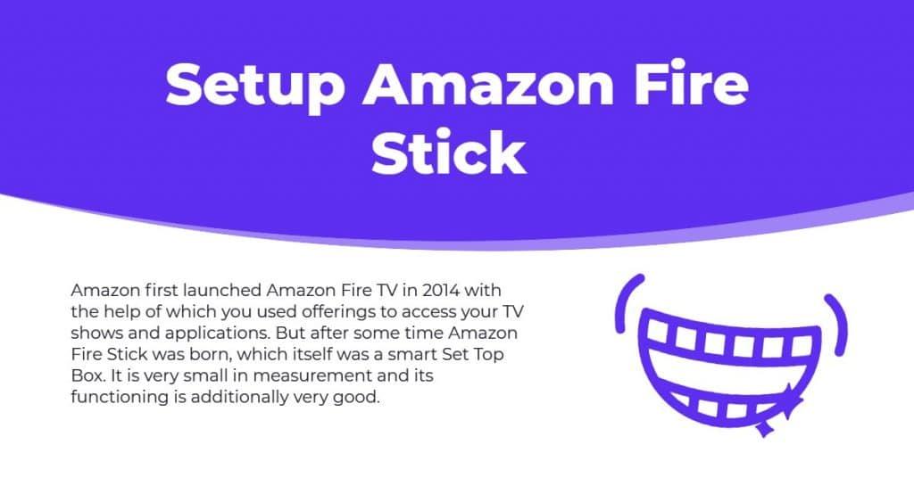 amazon fire stick account setup