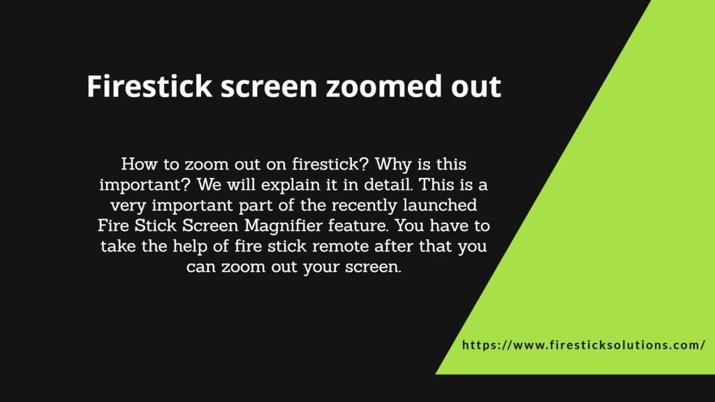 zoom out on firestick