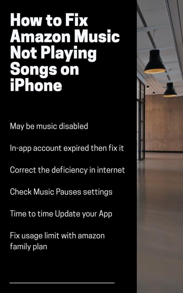 Amazon Music Not Playing Songs