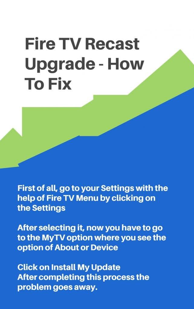 fire tv recast software update